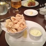 calamari fritters with homemade lemon mayo