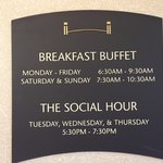 Breakfast Buffet Schedule