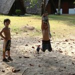 rope swing next to the kids club
