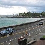 レストランから見たカイルア湾