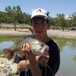 at isleta lakes caught a 7 lb bass with a lour