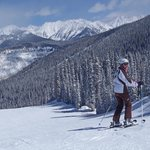 My wife skiing the Northwoods area of Vail in March