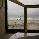 Mystery splatter on jetted tub window