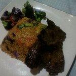 arroz del rey con churrasco