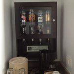 liquor dispenser in room