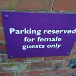 thought this was a strange sign but is due to the back car park being dark so a nice touch!
