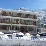 Hotel Covered With Snow