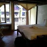 our king bed room area