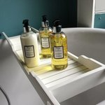 great touch with the lovely bathroom products