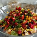 Ole's fruit salad - divine!