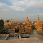 A view from the hotel roof top over the Jain Temples