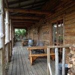 The lodge verandah