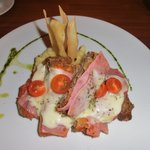 Kalbsschnitzel Milanese mit Kartoffelpüree