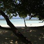 plage devant le bungalow