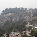 gangtok city from hotel room