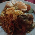 Nasi Goreng with Fried Chicken