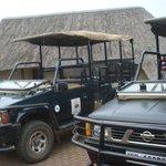 Départ du safari en 4 x 4