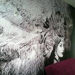 Wall mural in room