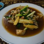 Stir-fried pork with oyster sauce......