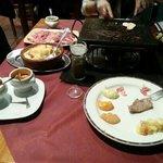 Carne a la piedra y gratin dauphinois