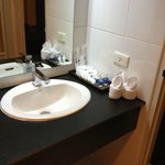 Bathroom Sink with Complimentary Toiletries