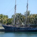 The island known for it's debut of the Pirates of the Caribbean...the ship