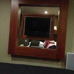 nice flat screen tv not sure about the mirrors though