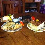 apple pie, milk tart, choc cake & cheese cake.
