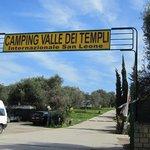 Camping Valle dei Templi entrata