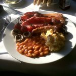 The superb Welsh breakfast prepared by Mark!