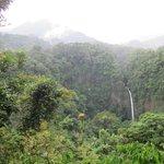 Walking to waterfall