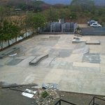 skate park (plus rubble) from the roof (not-yet-deck)