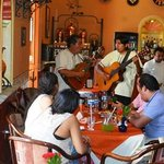 live music in the restaurant