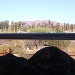 balcony with view of uluru