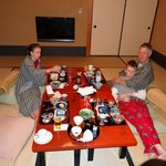Japanese breakfast in our room