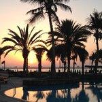 sunset at Jebel Ali Beach