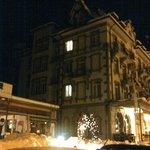 View of hotel at nite