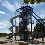 Slide & climbing frame