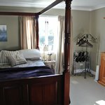 Downstairs room lovely big bed