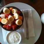 Frutas con joghurt
