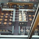 looking down at the gallerie Bistro