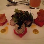 Assiette of fresh seafood