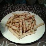 Ración berenjenas fritas con miel