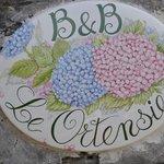 Insegna B&B Villa le Ortensie