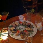 Aperol,Cosmopolitan & Bar Snacks Tuna,Olive,Aubergine