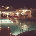 reception from the pool side