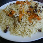 Qabil on rice - tasty fare