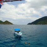 Une photo prise du bateau pour montrer le panorama