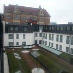 courtyard, window view