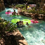 Shaded Tropical Lazy River bend